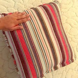 Boho multicolor accent pillow